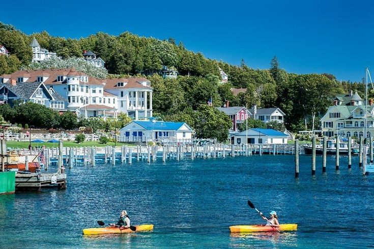 Mackinac Island, Michigan...an Island that sits in Lake Huron is a place that has escaped the changes of time, it's limited to transportation of horse and buggy, bicycle and walking. A living Victorian village!
