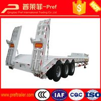 30 ton to 60 tons low bed loader truck trailer, Heavy duty 3 axle flatbed…