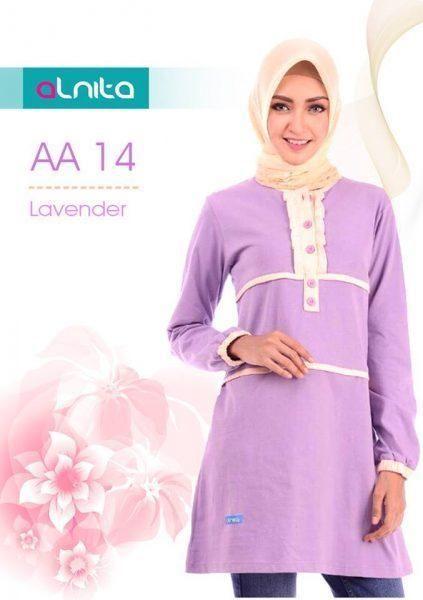 Beli Baju Atasan Wanita Tunik ALNITA AA - 14 LAVENDER dari Aprilia Wati agenbajumuslim - Sidoarjo hanya di Bukalapak