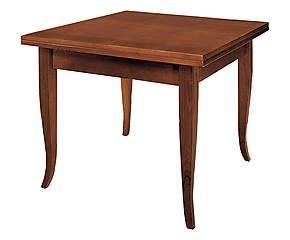 Tavolo allungabile in faggio color noce - 100x80x100 cm