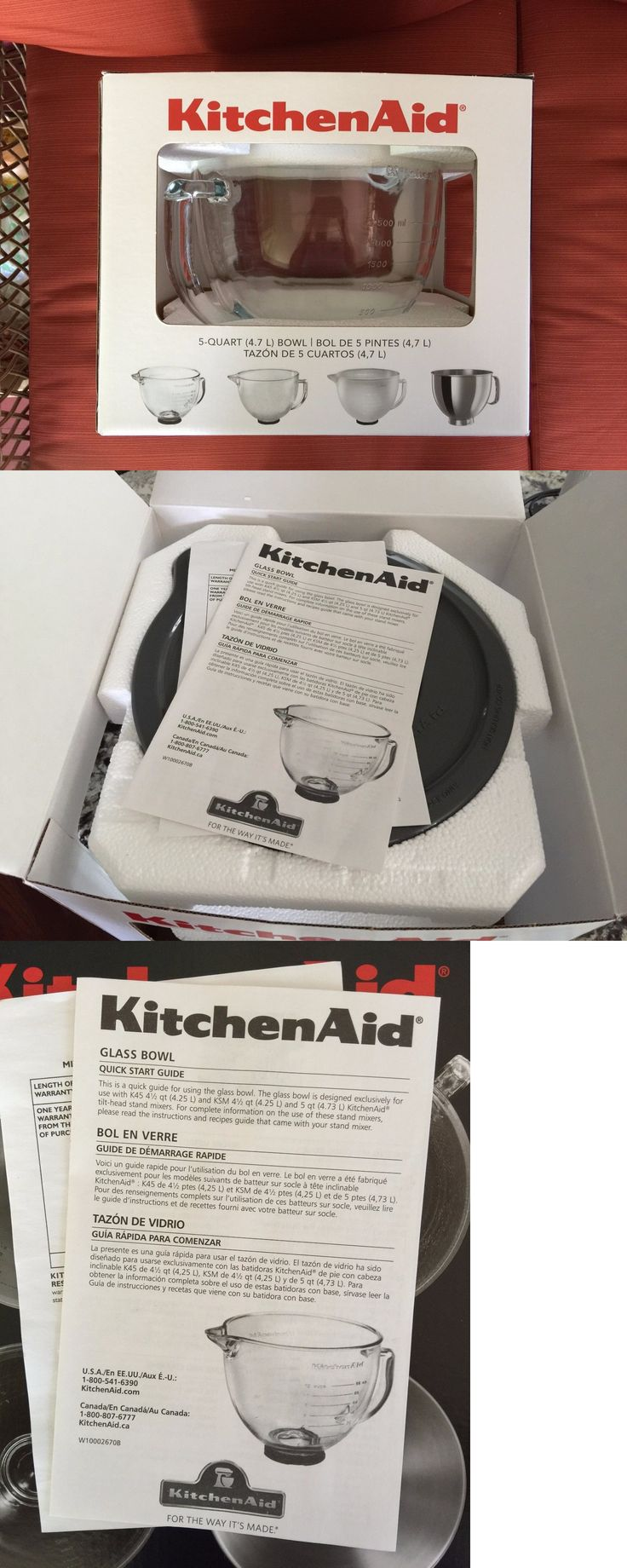 Kitchen small appliances canada - Small Kitchen Appliances Kitchenaid K5gb Stand Mixer Glass Bowl With Measurement Markings And Lid