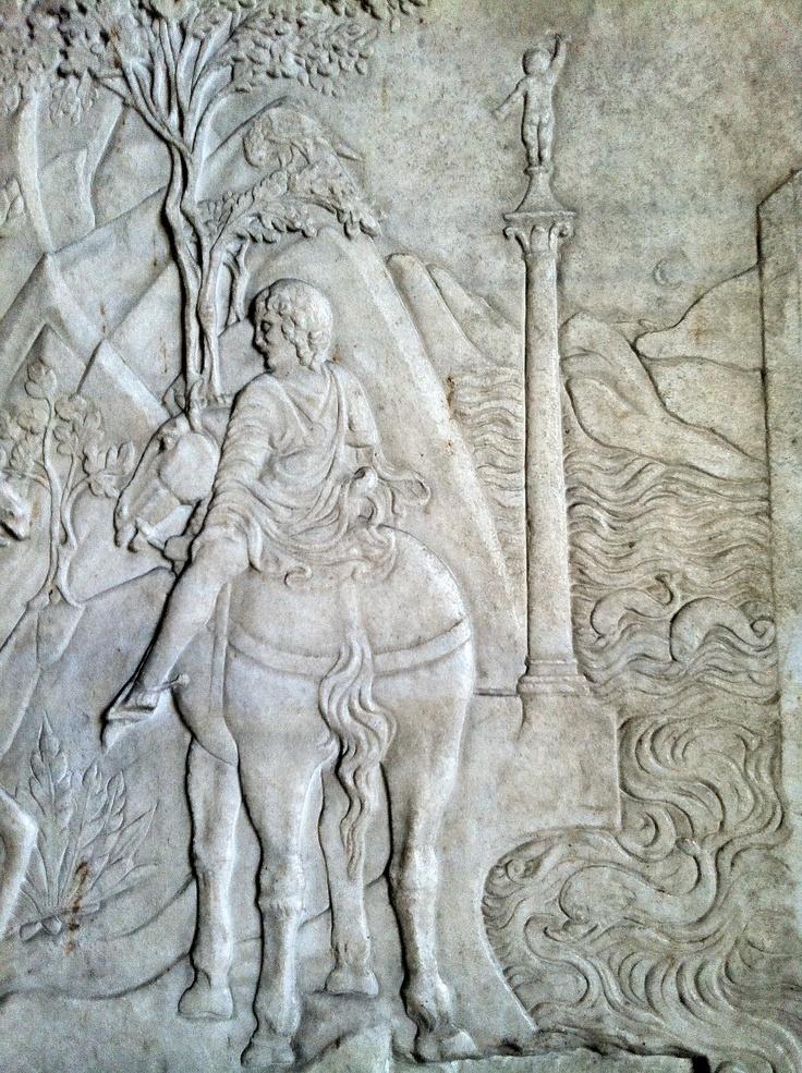 Lowrelief depicting the life of St. Sigismund by Agostino di Duccio sec XV Castello Sforzesco - Mailand