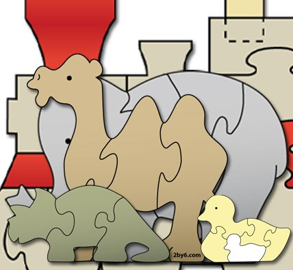 """""""Ooh Look, It's a Rabbit!"""": Scroll Saw Puzzle Patterns"""