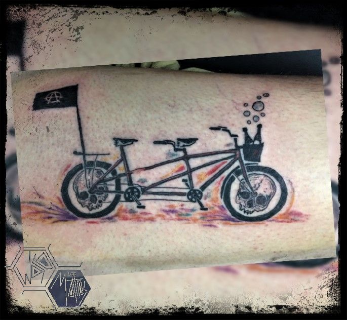 #tattoo #tattooarte #tattooartist #inked #ink #newschooltattoo #bike #art #arte #artista #Chile #wasodemattos