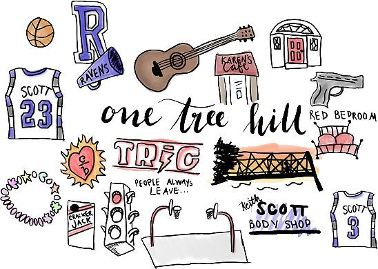 """""""One Tree Hill icons"""" Stickers by amandaspac 