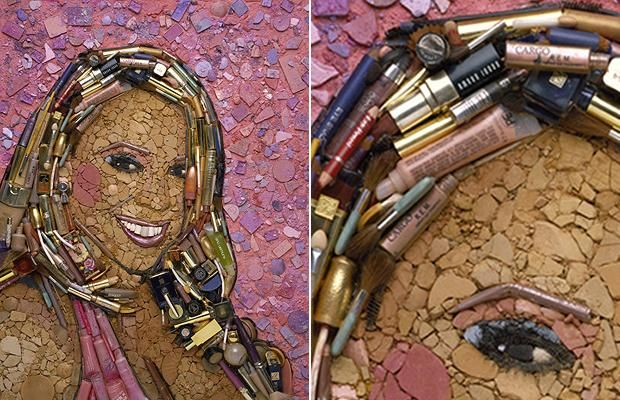 Another Jason Mecier portrait... this time of Mariah Carey created using make-up.