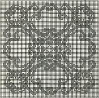 Schemi per il filet: Centrino classico quadrato