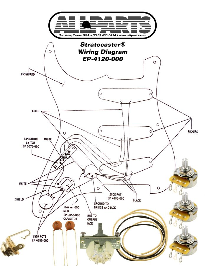 103 best wiring images on pinterest guitar building cigar box wiring kit for stratocasters available online from allparts the leading distributor of guitar electronics guitar parts and amp parts asfbconference2016 Choice Image