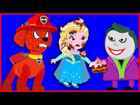 Frozen Elsa Birthday Party Paw Patrol 2 Finger Family Song Nursery Rhymes - YouTube