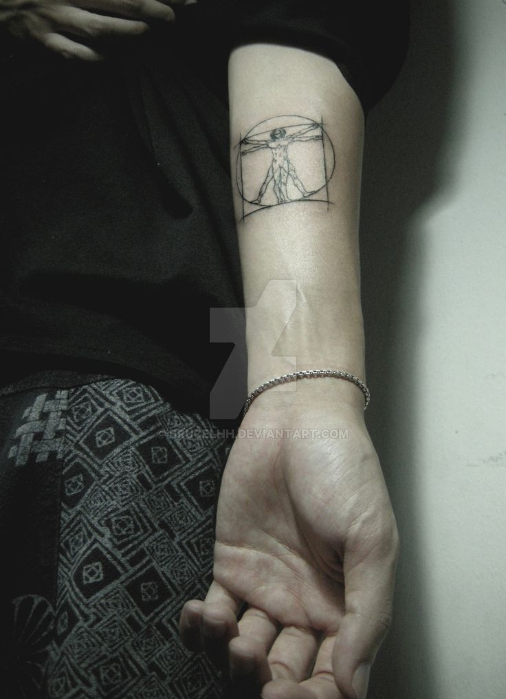 Vitruvian Man Tattoo by brucelhh                                                                                                                                                                                 More