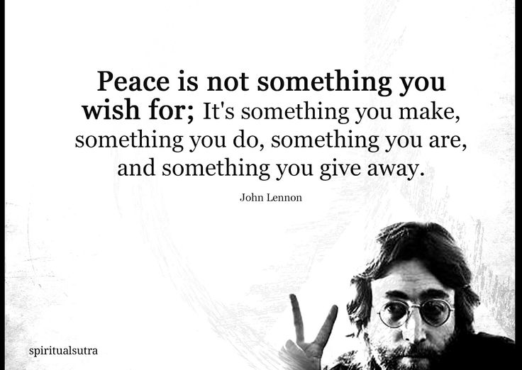 About peace, motivational quote