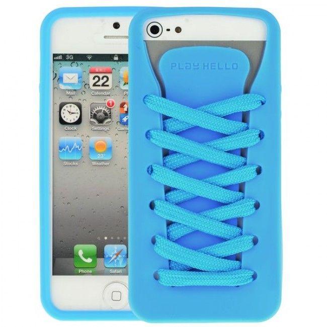 Converse (Sininen) iPhone 5 Silikonisuojus - http://lux-case.fi/converse-sininen-iphone-5-silikonisuojus.html