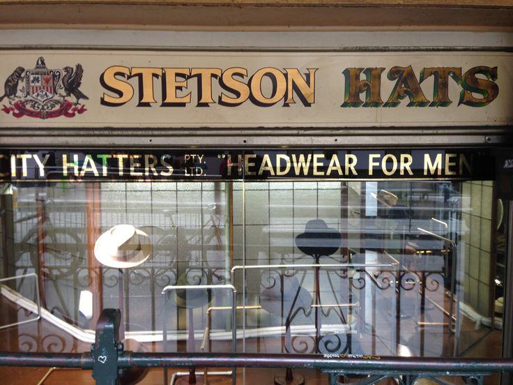 Stetson Hats on Flinder St, Melbourne