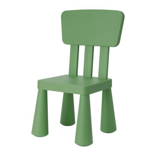 MAMMUT Children's chair IKEA Made of durable plastic that is easy to clean.