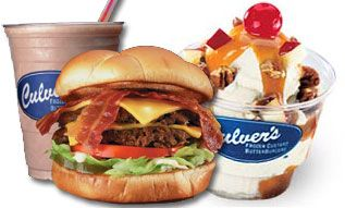 I love Culver's.  They have the best bacon cheeseburger.  Yum !