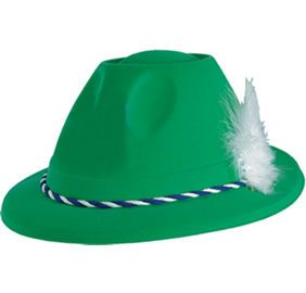 Green German Tyrolean Hat - Party City