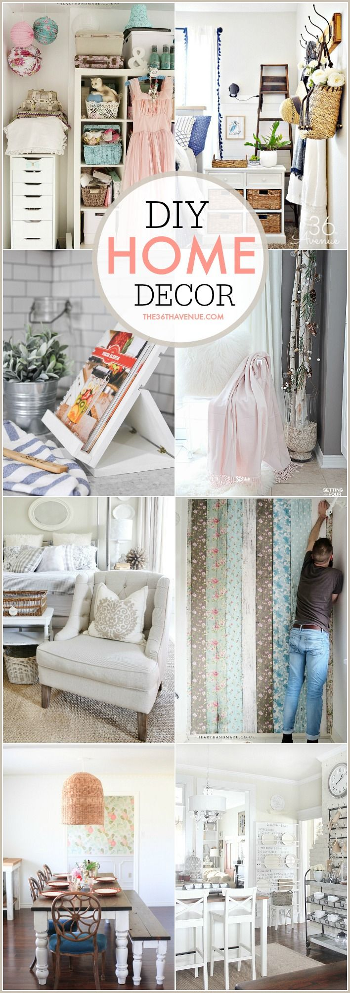 Beautiful DIY Home Decor Ideas that you can do. Great and easy ways to decorate your home on a budget.