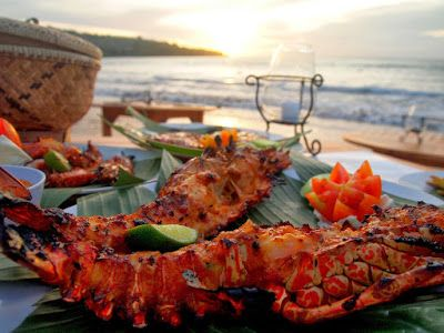 Let us guide you to the freshest of grilled seafood with a beautiful sunset view to match at Jimbaran Bay-Bali. It's only takes 25 minutes drive from Tonys VIllas Bali. Please contact our tour desk for transport arrangement. #bali #seminyak #indonesianseafood #villainbali #honeymoon #holiday #tonysvilla #balimagic #Jimbaranbay #sunsetinbali