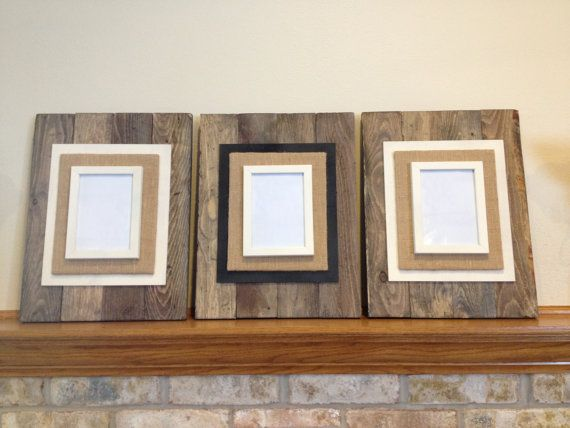 Reclaimed Wood Picture Frame/ Pallet Wood PIcture Frame/ Rustic Picture Frame