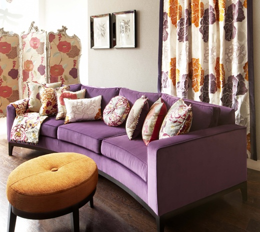 Perfect Purple Couch · Curved CouchPurple CouchLiving Room ...