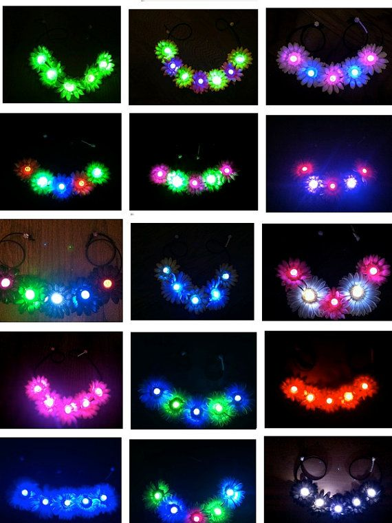 LED Light Up Daisy Flower Headband EDC Flower by BrittsBlossoms ... 03c81983f26
