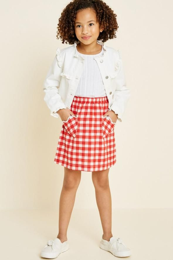 7a1a38e913 Gingham Heart Pocket Skirt in 2019 | Spring Collection 2019 | Skirts ...