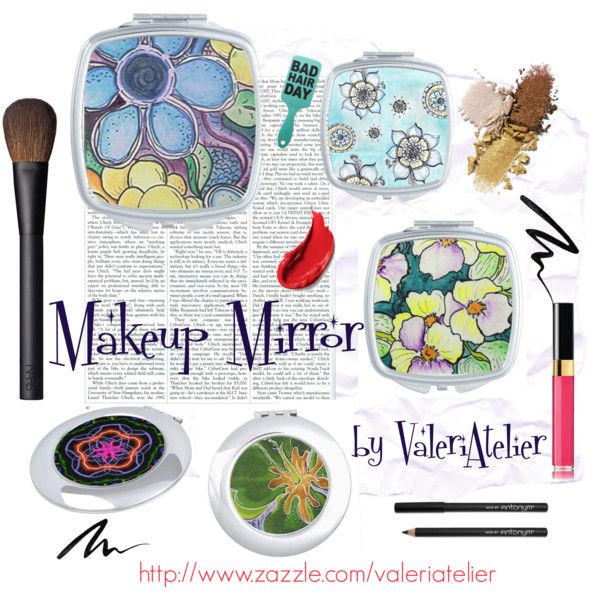 """Makeup Mirror Collection"" by valeriatelier on Polyvore"