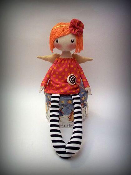 Человечки ручной работы. Ярмарка Мастеров - ручная работа Текстильная кукла Рыжая...... Handmade.