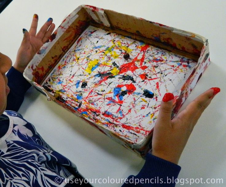 Marble Paintings In The Style of Jackson Pollock