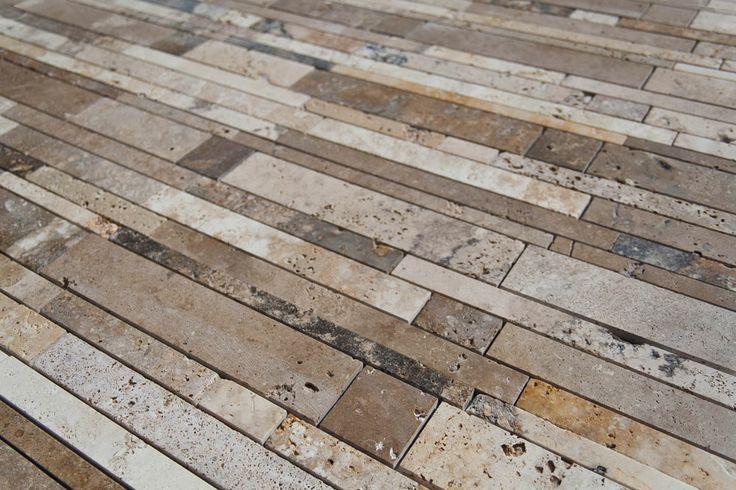 Strips - Mosaico in Travertino | Pietre di Rapolano