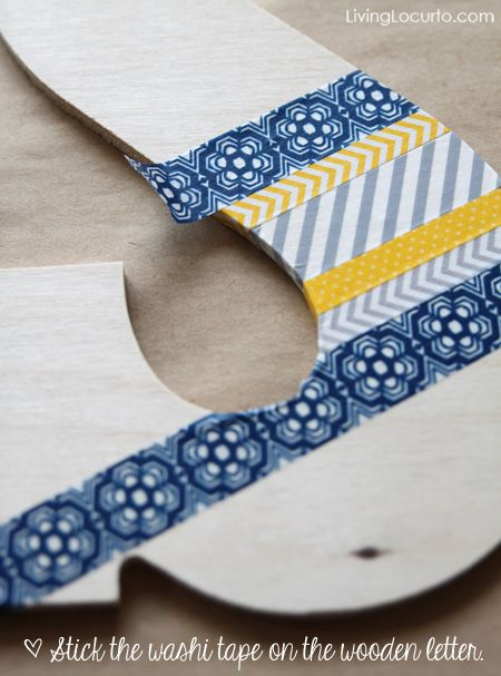 Washi Tape Wall Art {DIY Craft } | Living Locurto - Free Party Printables, Crafts & Recipes