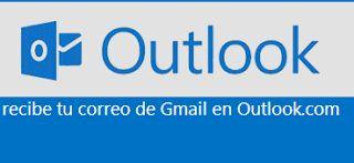 Correos de Gmail en Outlook