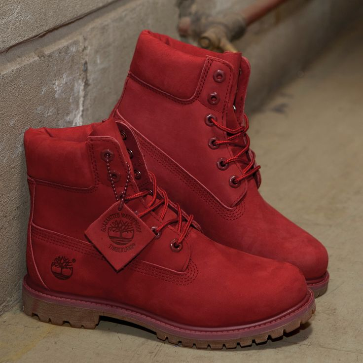 These red Timberland boots are on fleek.