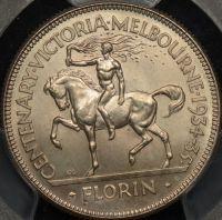 PCGS MS66 1934-35 Centennial Florin AUD$3250