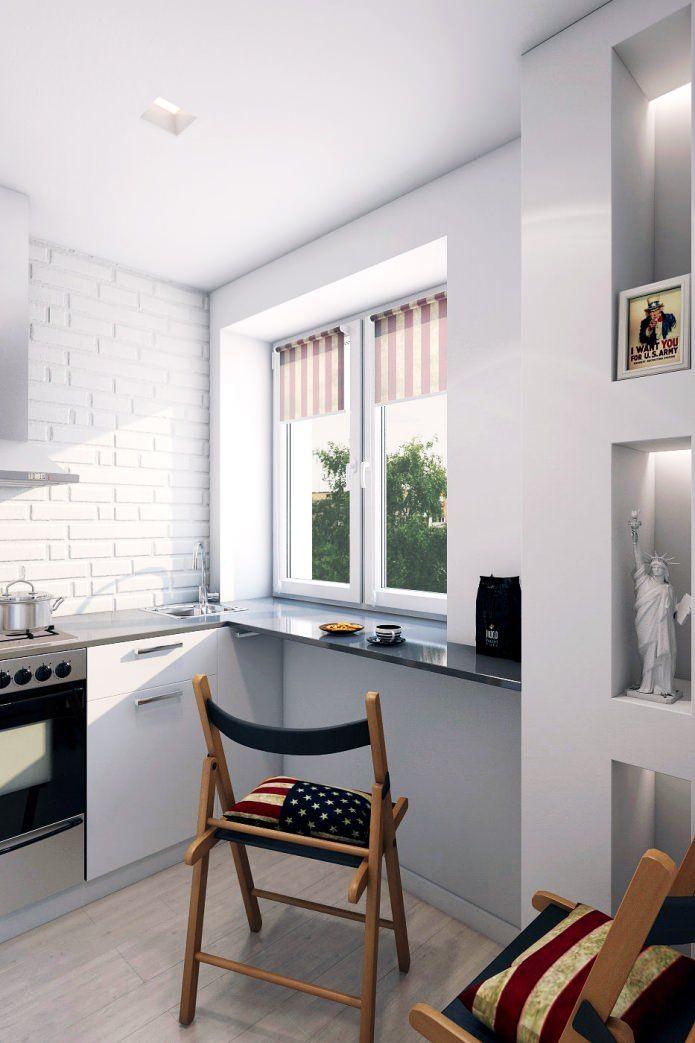 кухня в дизайне двухкомнатной квартиры в панельном доме