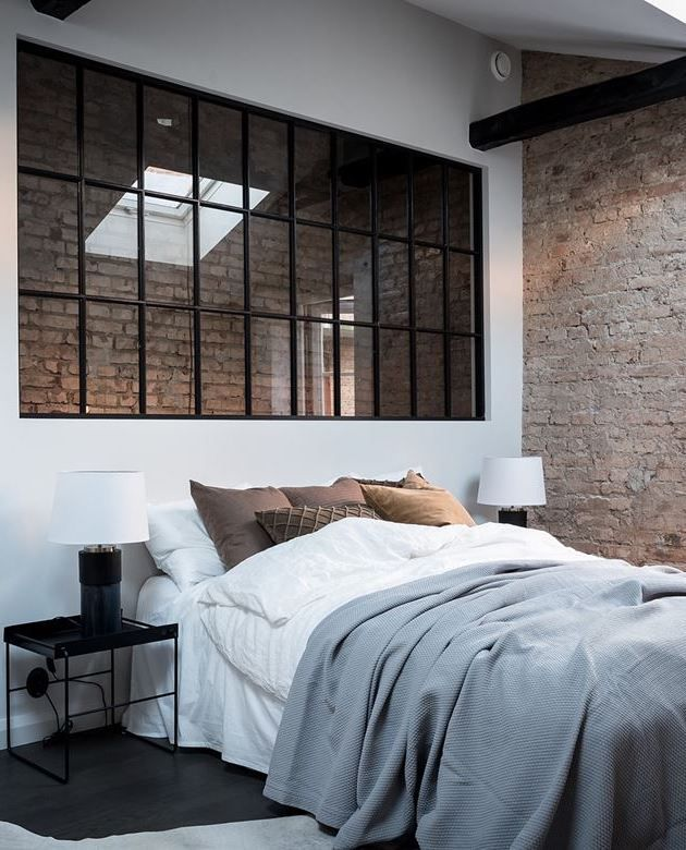 Bedroom With Exposed Brick With Images Small Space Bedroom Bedroom Design Bedroom Makeover