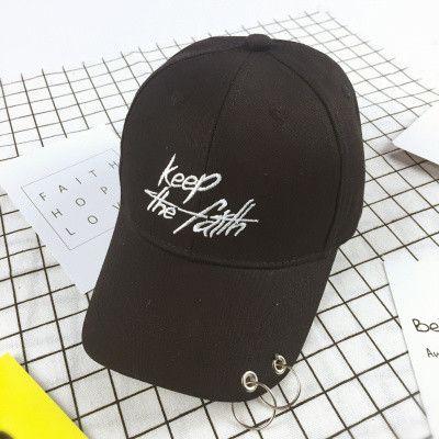 Letter Keep the faith Kids Baseball Cap Ring Hip Hop Curved Snapback Baseball Cap Harajuku Hat for boys girls children