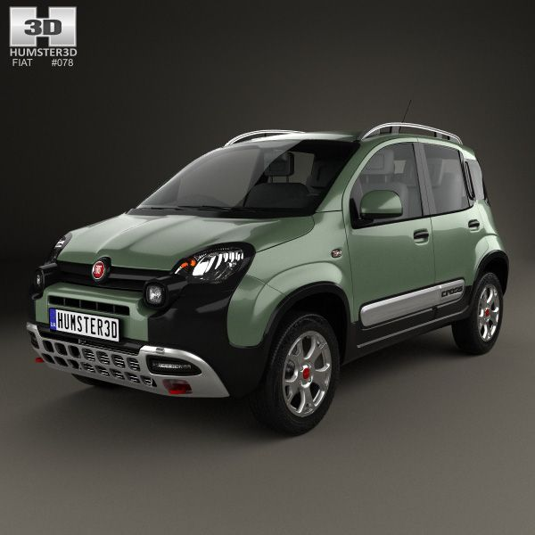 Fiat Panda Cross 2014 3d model from humster3d.com