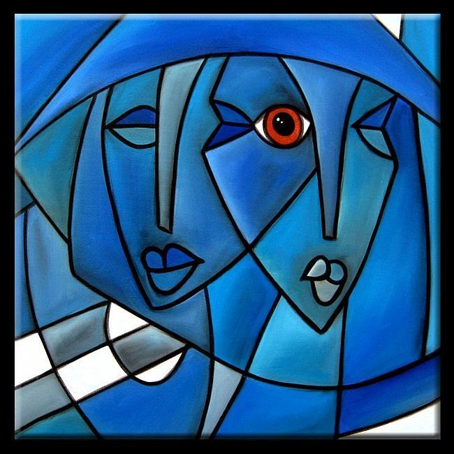 """Cubism. Presenting something from a fractured series of viewpoints. Can be done in literature and film as well. Which is the """"True"""" viewpoint? Or is there such a thing? Picasso's cubist portrait paintings - Google Search"""