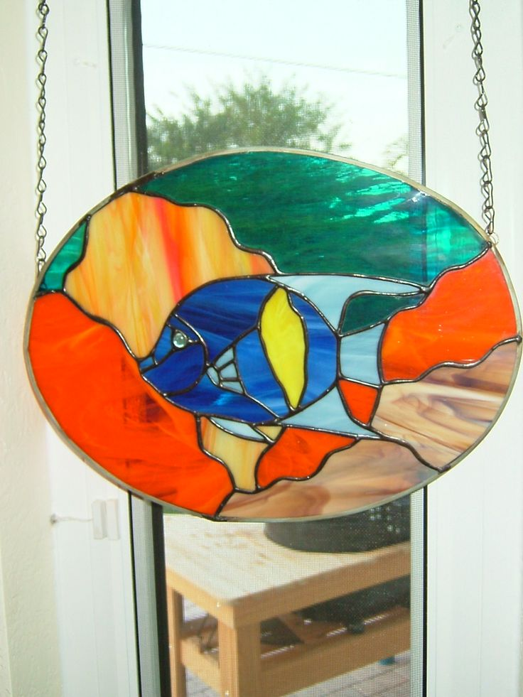 33 best images about home decor on pinterest modern for Stained glass fish