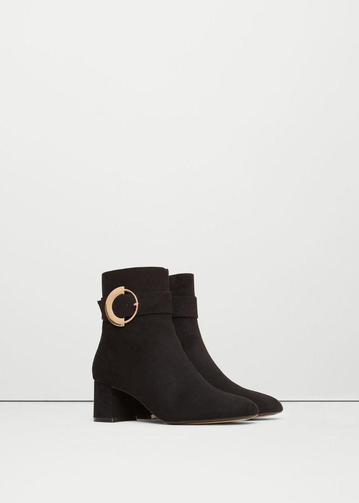Decorative buckle boots -  Women   MANGO USA