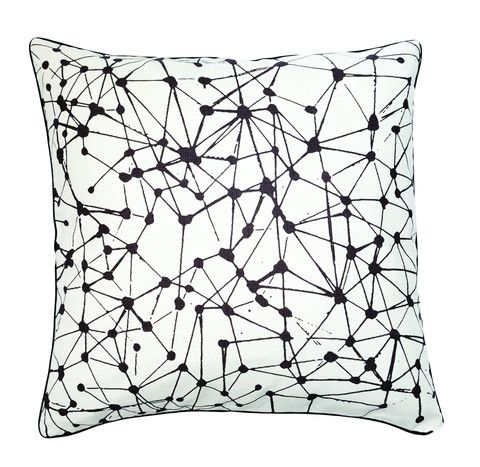 Constellation Black on White Cushion Cover