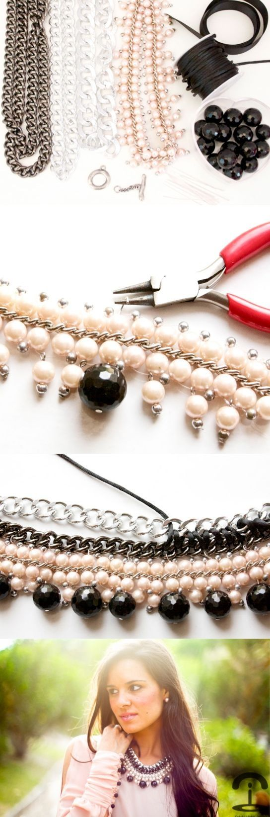 DIY Crimenes de la Moda - collar con cadenas - chain necklace