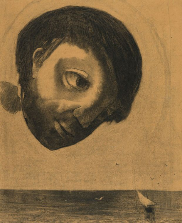 "2314Odilon Redon, Guardian Spirit of the Waters"", 1878, Art Institute of…"