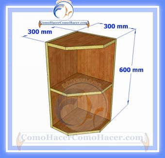 Plano y medidas como hacer un esquinero de cocina de for Enchufes planos para detras muebles