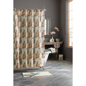 Croscill Arbor Leaves Cranberry Shower Curtain