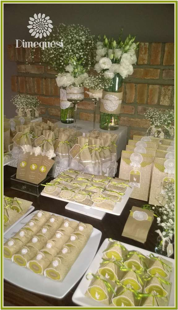 Rustic 1st communion party! See more party planning ideas at CatchMyParty.com!