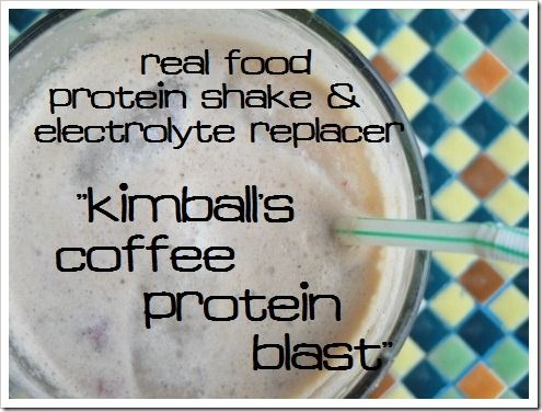 Kimballs Coffee Protein Blast :: real food protein shake and electrolyte replacer