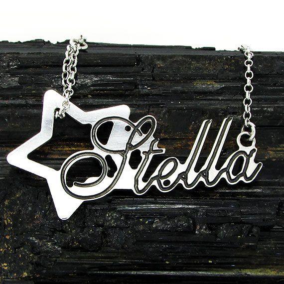 Pendente in argento 925 con nome e disegno personalizzati, Custom sterling silver pendant di CreazioniMilly su Etsy