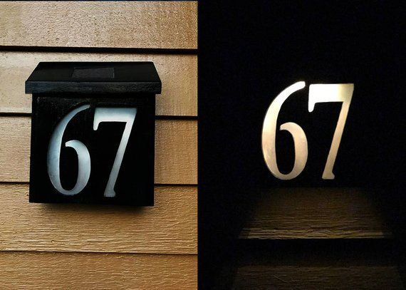 Solar Powered House Numbers Solar Power House House Numbers